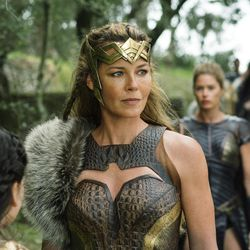 """This image released by Warner Bros. Entertainment shows Connie Neilsen in a scene from """"Wonder Woman,"""" in theaters on June 2. (Alex Bailey/Warner Bros. Entertainment via AP)"""