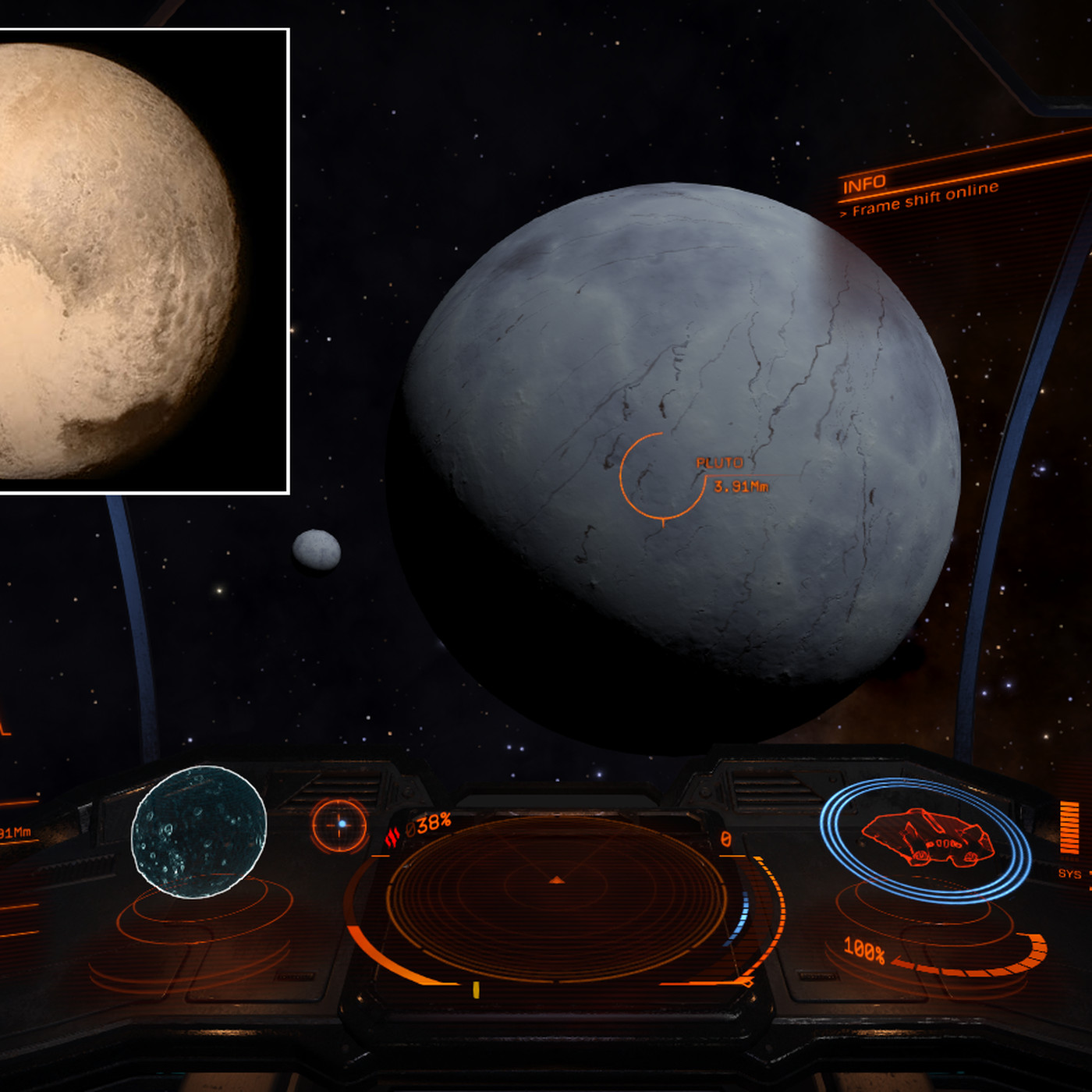Pluto will get a facelift in Elite: Dangerous, but not for a while