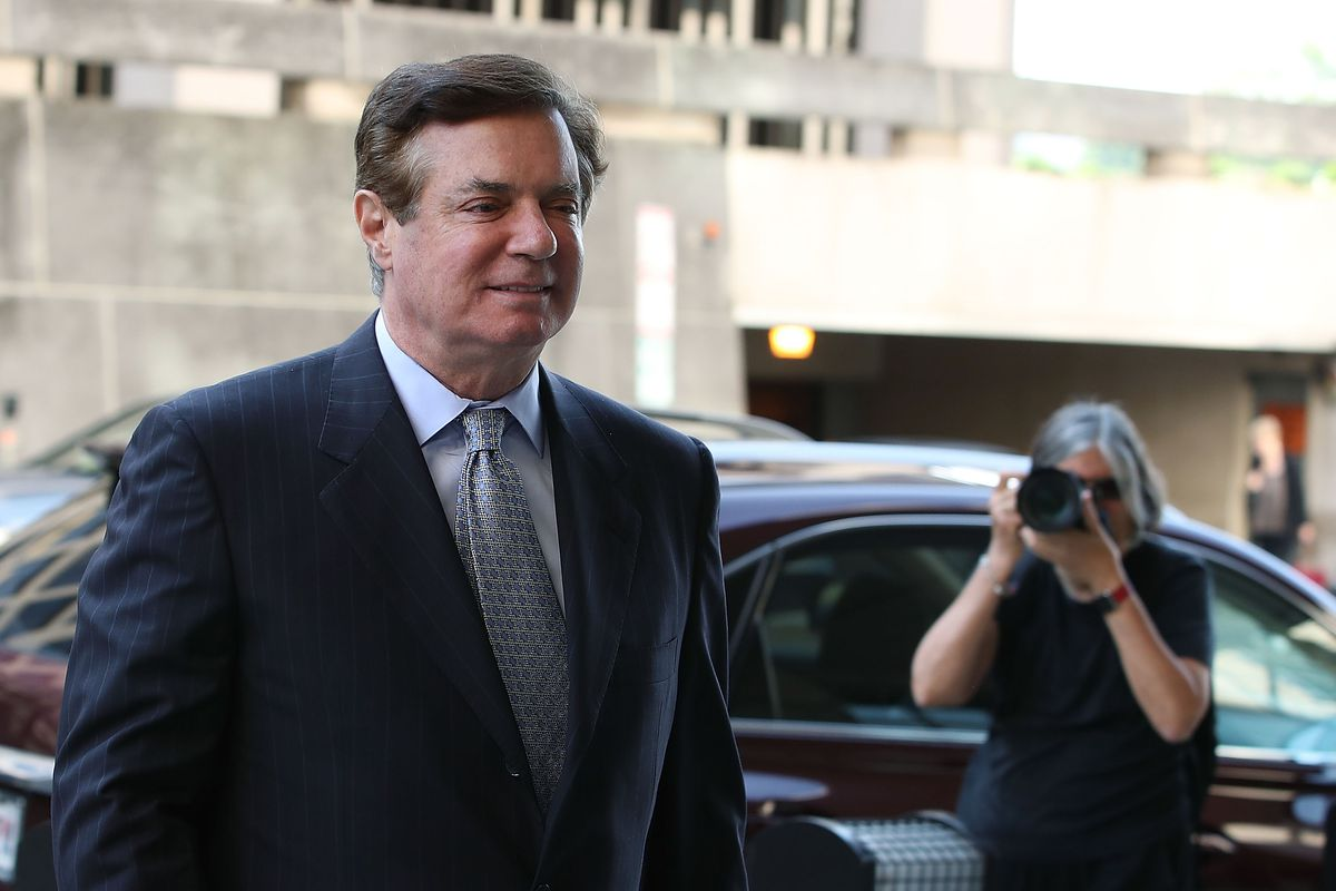 Former Trump campaign manager Paul Manafort on his way to a hearing.