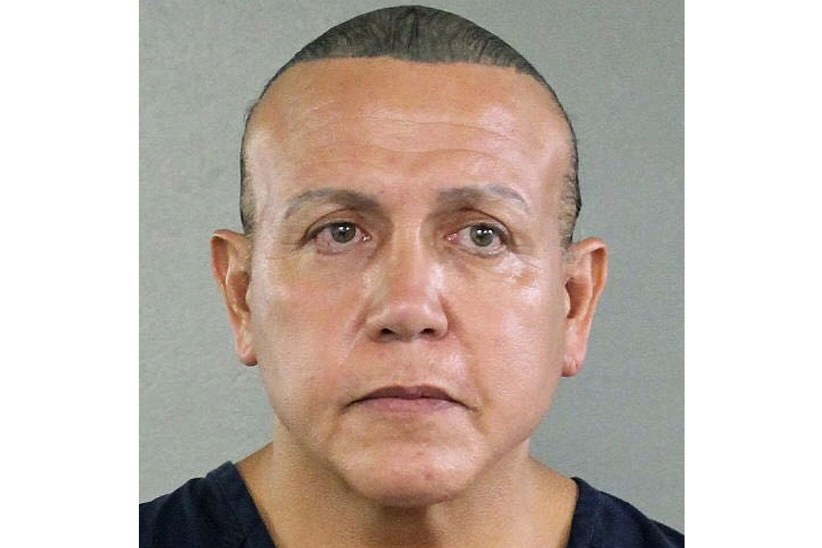 FILE - This Aug. 30, 2015, file photo released by the Broward County Sheriff's Office shows Cesar Sayoc in Miami. Sayoc, who created a two-week crisis by mailing 16 packages of inoperative pipe bombs packed with fireworks powder and shards of glass to 13