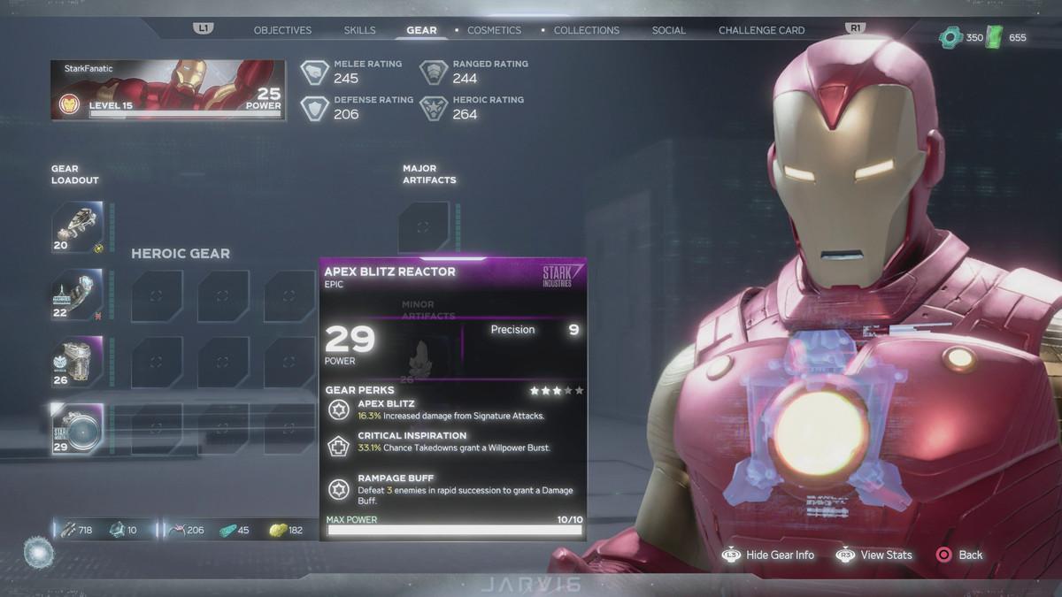 Iron Man's purple loot in Marvel's Avengers