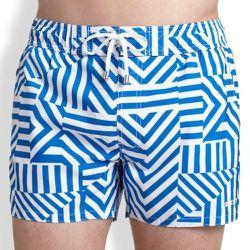 "<strong>2(X)IST</strong> Ibiza Zigzag Swim Trunks in Imperial Blue, <a href=""http://www.saksfifthavenue.com/main/ProductDetail.jsp?FOLDER%3C%3Efolder_id=2534374306424609&PRODUCT%3C%3Eprd_id=845524446667288&R=603679142882&P_name=2XIST&N=1708+306424609&bmUI"