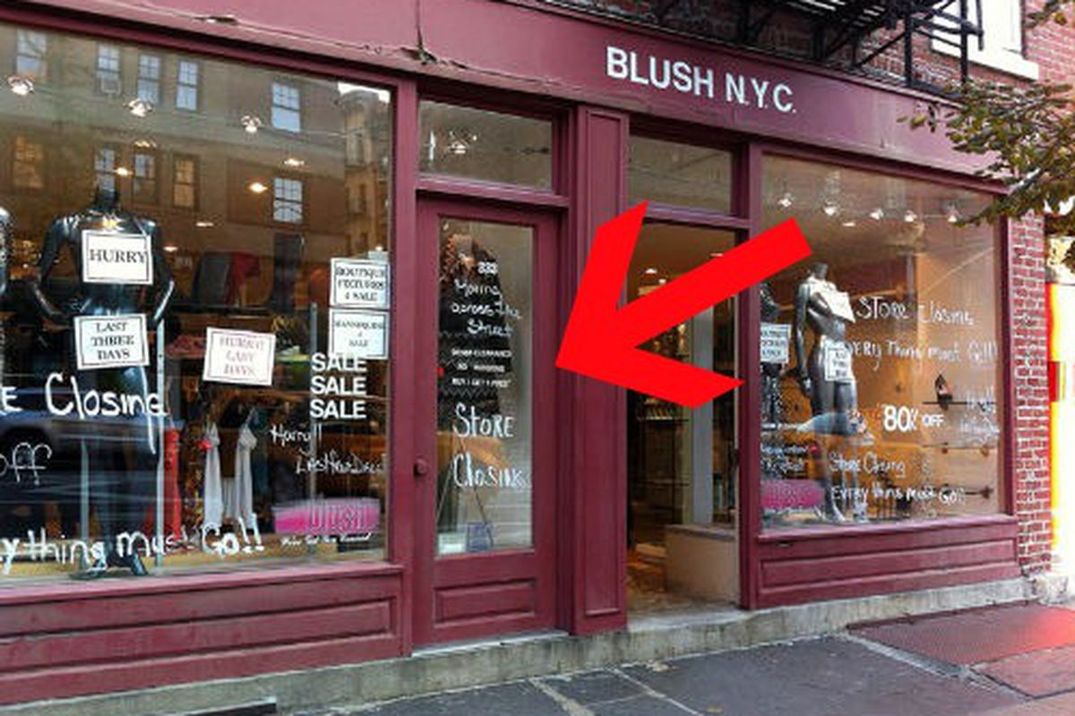 """Image via <a href=""""http://theshophound.typepad.com/the_shophound/2011/10/down-but-not-out-blush-bows-out-but-hangs-in-on-bleecker-street-.html"""">The Shophound</a>"""