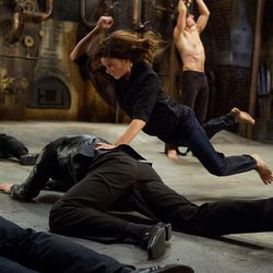 """Rebecca Ferguson, left, plays Ilsa and Tom Cruise plays Ethan Hunt in """"Mission: Impossible – Rogue Nation."""""""