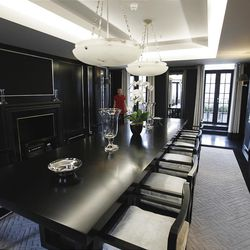 This  Friday, March, 16, 2012 photo interior in one of the five bedroom luxury penthouse apartments overlooking Hyde Park, London which is available for hire during the London 2012 Olympics for some 11,000 British pounds (US$17,600) a night - and includes a maid a butler and and Aston Martin car.