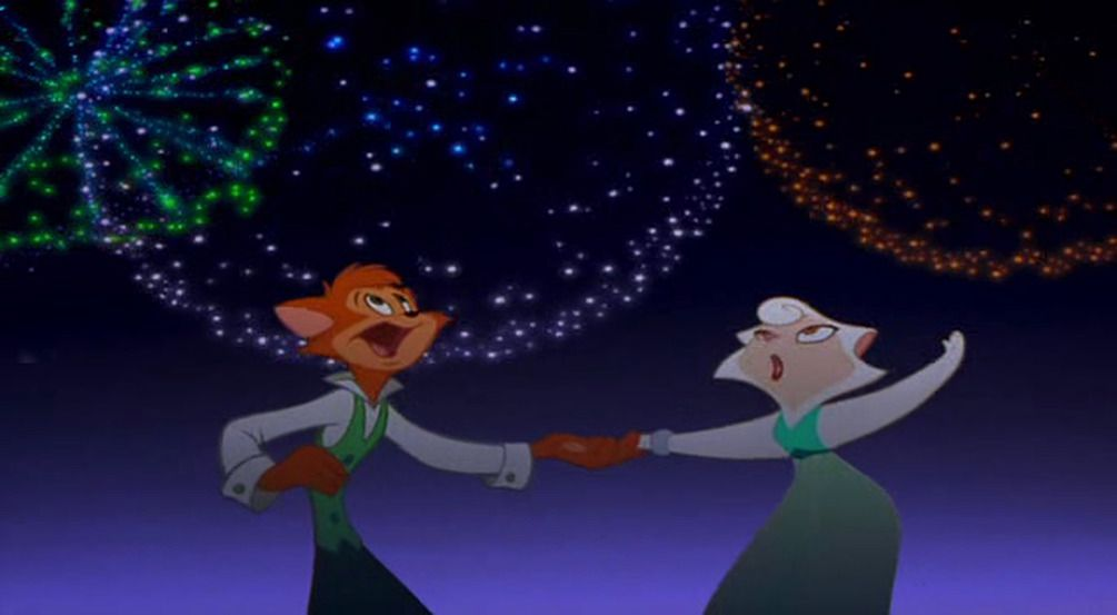 danny and sawyer dancing under fireworks