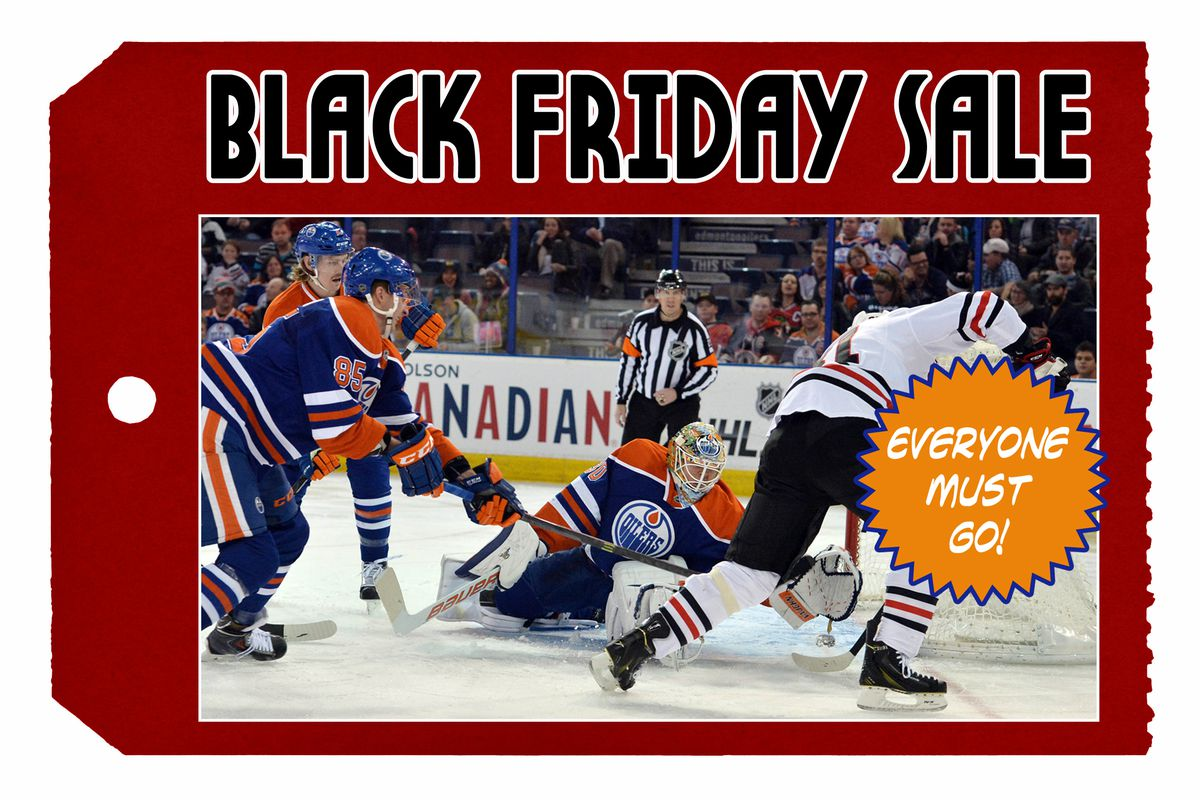 Black Friday Blowout sale on Oilers players expected to draw massive crowd  of NHL general managers cf04b7b410b