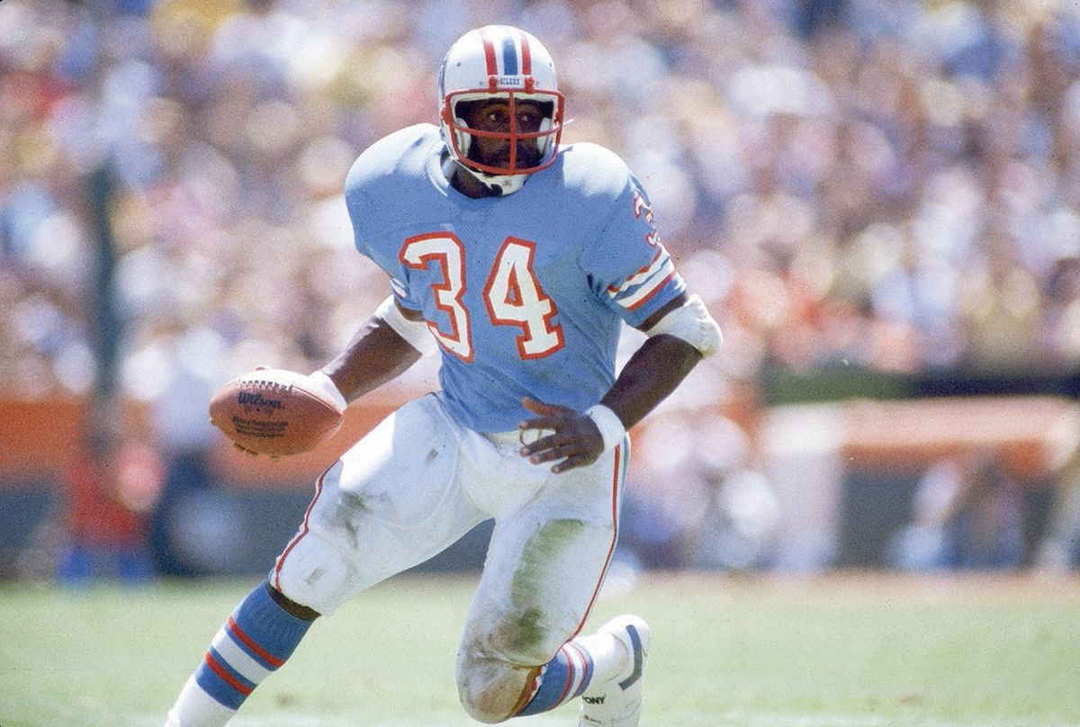 Houston Oilers Earl Campbell...
