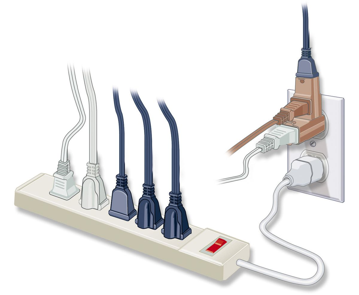 Too Few Outlets Causes Heavy Dependence On Extension Cords And Power Strips