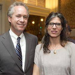 Louisville mayor Greg Fischer and NFocus Magazine columnist Holly Houston