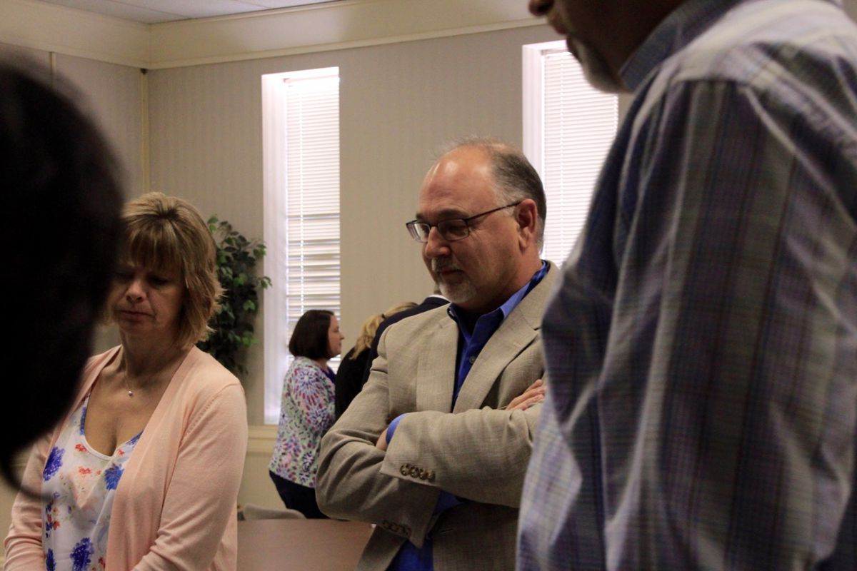 Randy McPherson (middle) oversees school culture and climate for Shelby County Schools.