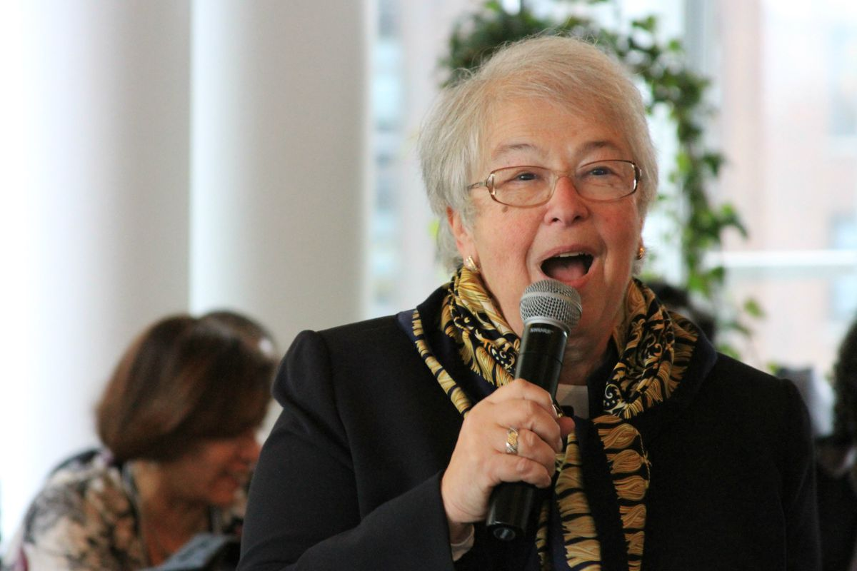 Chancellor Carmen Fariña speaks to superintendents and principals overseeing the city's designated renewal schools.