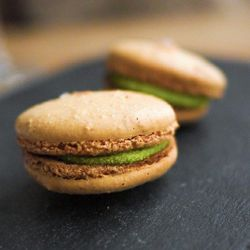 """Pea and cardamom macaron at Commonwealth. <a href=""""http://www.flickr.com/photos/soundofdesign/6996006790/in/pool-520531@N21/"""">soundofdesign</a>"""