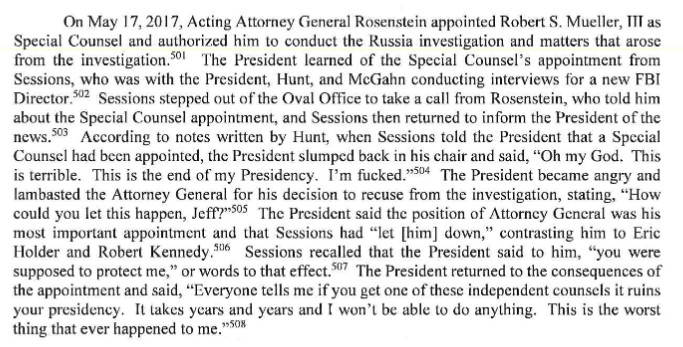 Mueller on his own appointment