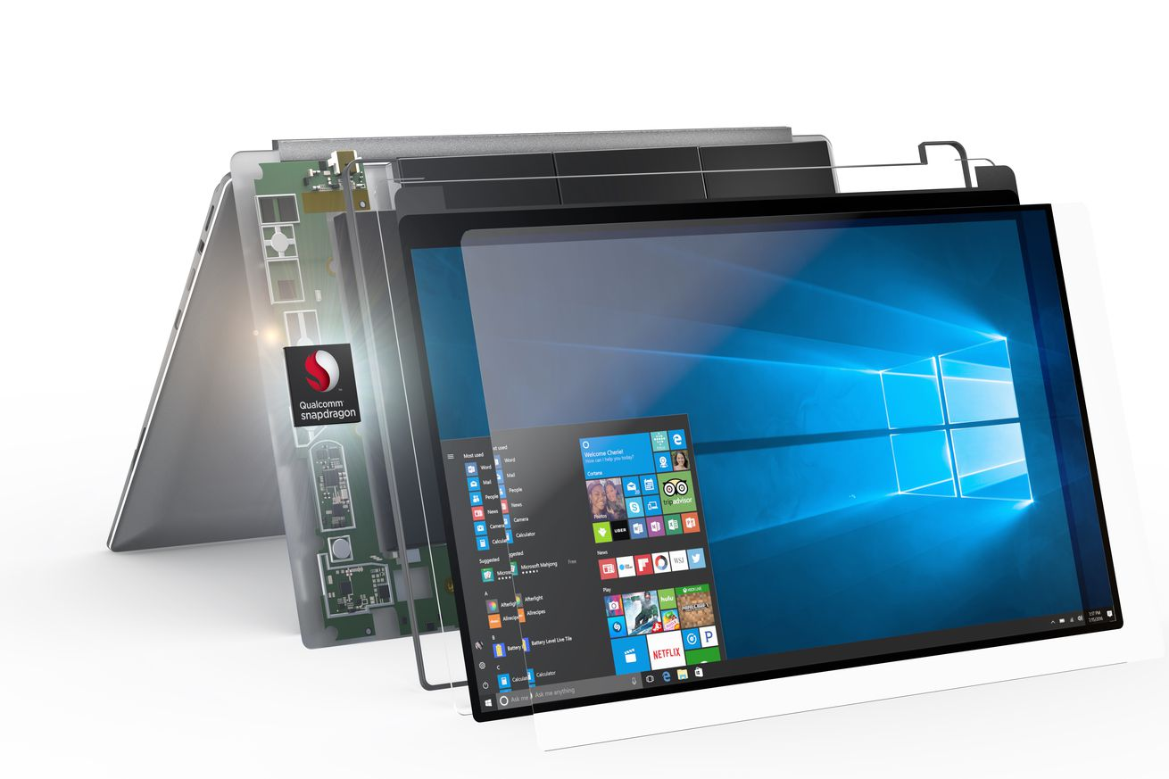microsoft launches arm powered windows 10 pcs with all day battery life
