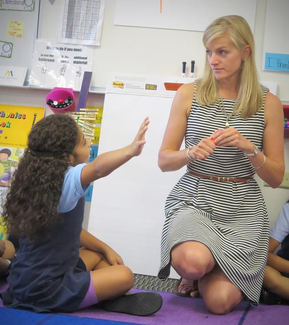 Emily Dorn in her classroom at Rocky Mountain Prep, a public elementary charter network in Denver.