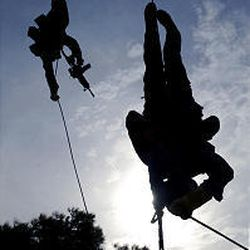 Somewhere near Athens, Greek special forces prepare for the upcoming Athens Olympics.