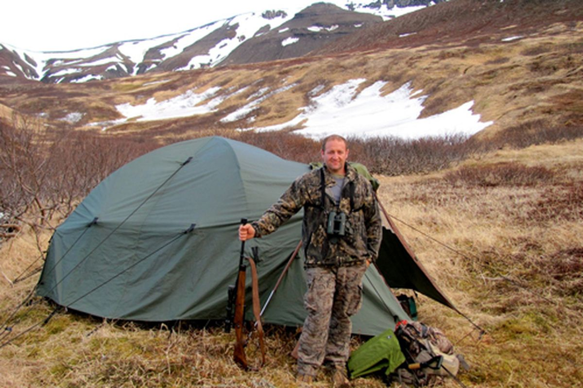 Anthony Caturano, hunting brown bears in Alaska in 2010.