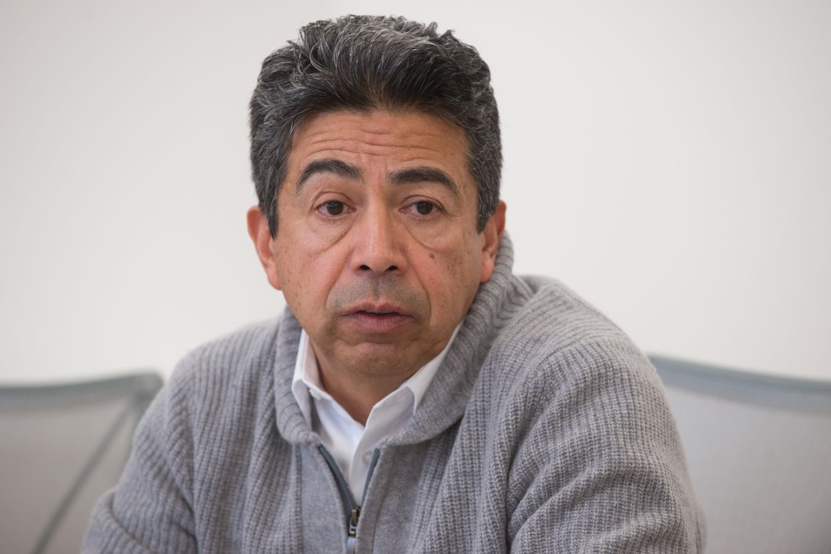 <strong><small>Ald. Danny Solis talks to the Sun-Times editorial board about running for re-election to represent the 25th Ward in Chicago City Council on Jan. 19, 2015. | Peter Holderness / Sun-Times</small></strong>