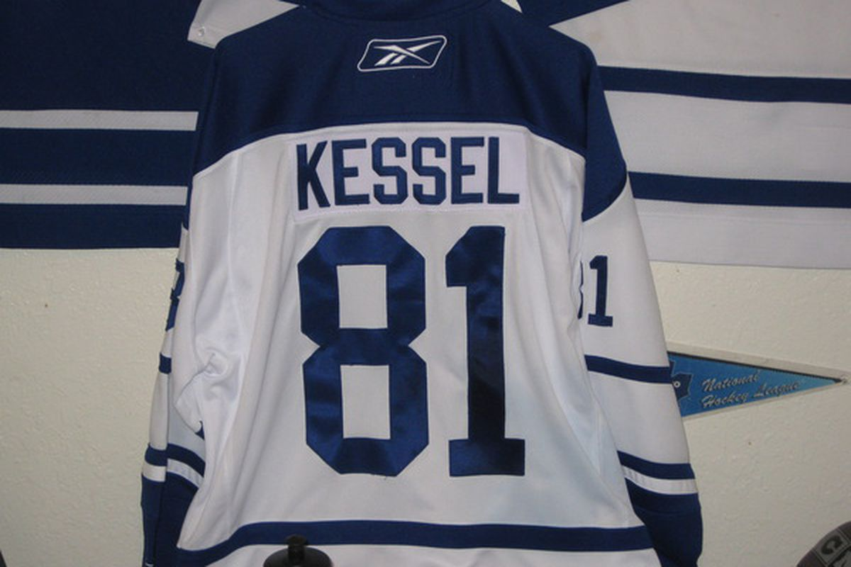 "Kessel Jersey, courtesy of <a href=""http://twitter.com/leafsfaninbigd"">LeafsFanInBigD</a>"