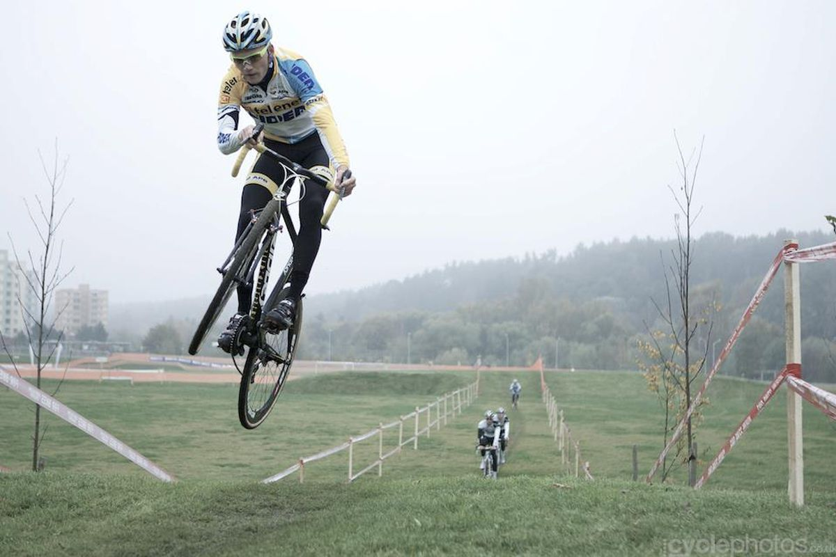 Arnaud Jouffroy getting some air in the grasslands of Tabor