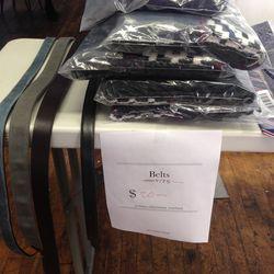 Belts, $20
