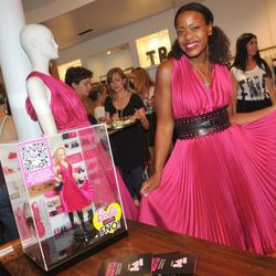 Tracy Reese with her Barbie on FNO.