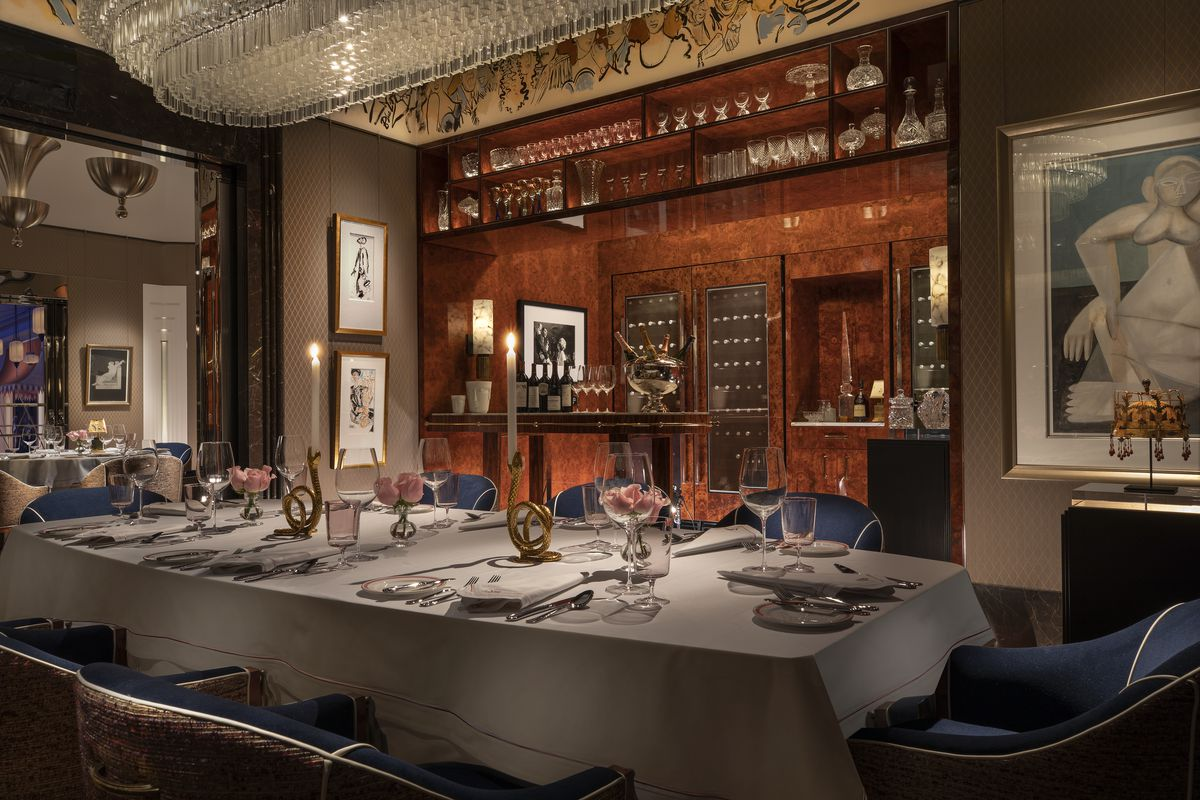 Another view of the chef's table private dining room at Delilah