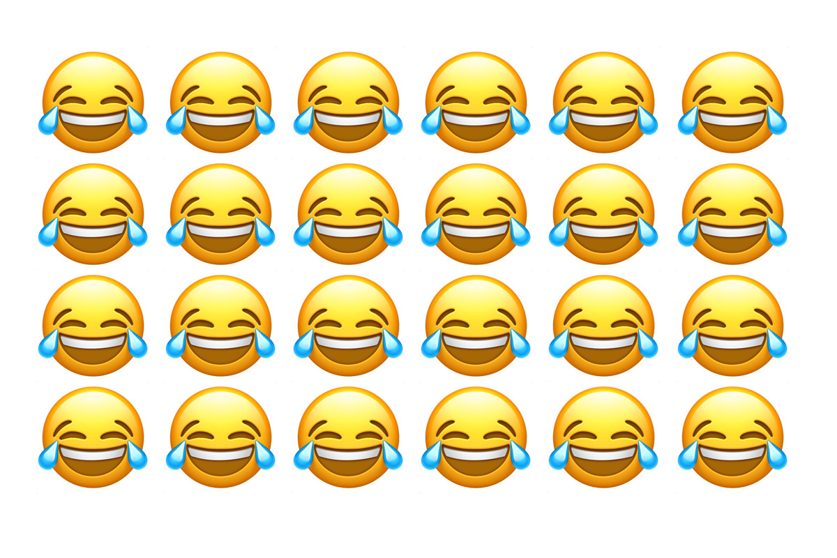 The most popular Emoji on iOS is