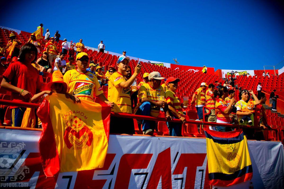 Fans of Monarcas Morelia at an away match.