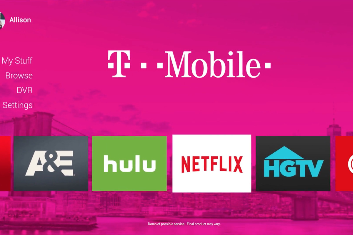 T-Mobile's mock up of what a possible service could look like        Image T-Mobile