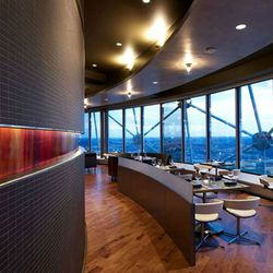 Perched 560 feet in the air atop Reunion Tower, Wolfgang Puck's Five Sixty is <em>the</em> destination restaurant for out-of-towners. The revolving dining room can get a little disorienting (good luck getting back to your table after a few drinks and a tr