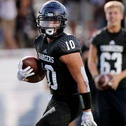Corner Canyon and Bingham play a high school football game at Corner Canyon on Friday, Aug. 30, 2019. Corner Canyon won 56-28.