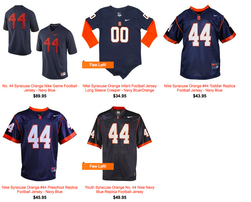 separation shoes 4eec9 71468 What Isn't Anyone Selling Orange Syracuse Football Jerseys ...