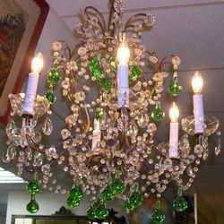 Mid-century Italian gilt chandelier, $545 from Brompton Market
