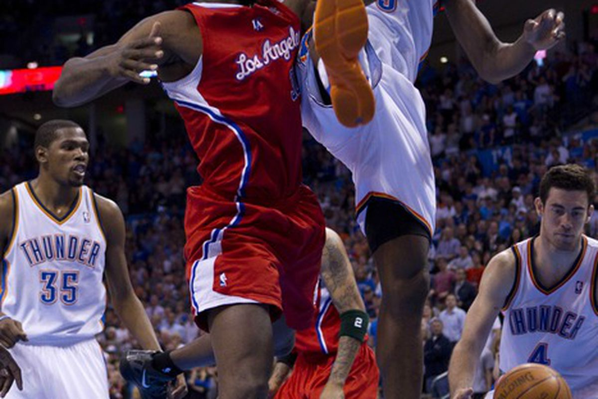 I'd love to see a Karate matchup between Reggie Evans and Serge Ibaka. Somebody make it happen!