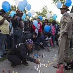 A vigil for Maurice Granton Jr., who was fatally shot by Chicago Police. | Rick Majewski/For the Sun-Times