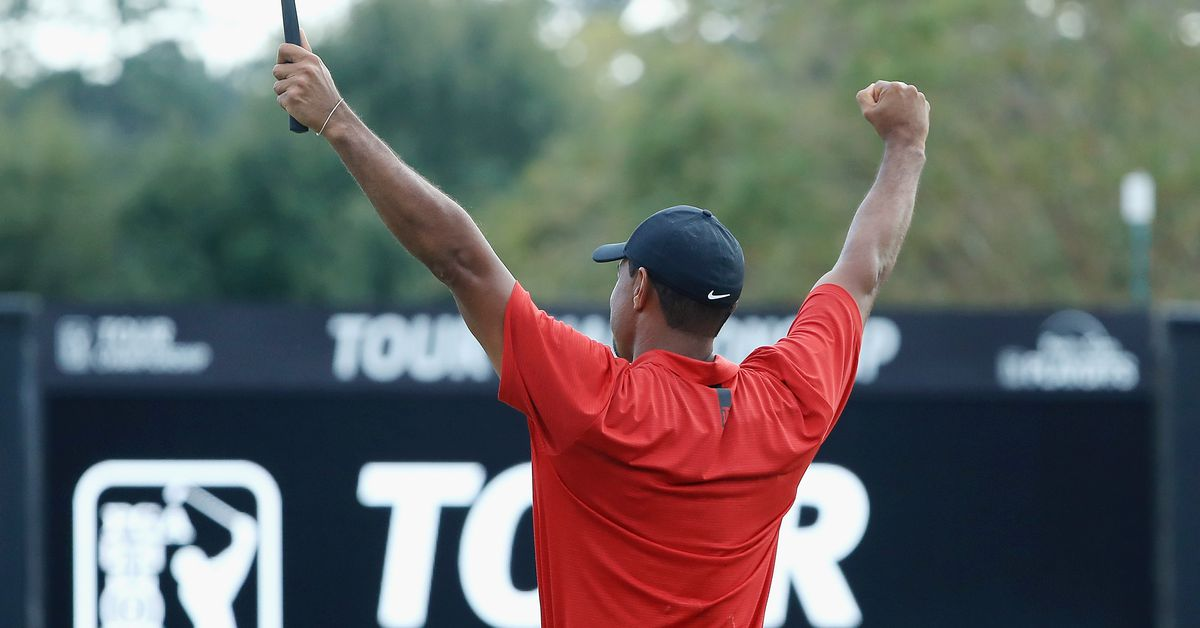 Tiger Woods, your winner of the 2018 Tour Championship, is back