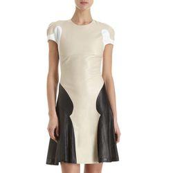 "<b>Ohne Titel</b> Colorblock Leather Dress, <a href=""http://www.barneys.com/Ohne-Titel-Colorblock-Leather-Dress/502588299,default,pd.html?cgid=womens-clothing&index=36#"">$1,010</a> at Barneys"