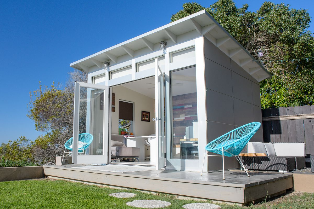 5 cool prefab backyard sheds you can buy right now curbed for Building a home office in backyard
