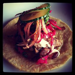 """Short rib tacos from La Verdad by <a href=""""http://www.flickr.com/photos/the_sbk/"""">The Small Boston Kitchen.</a>"""