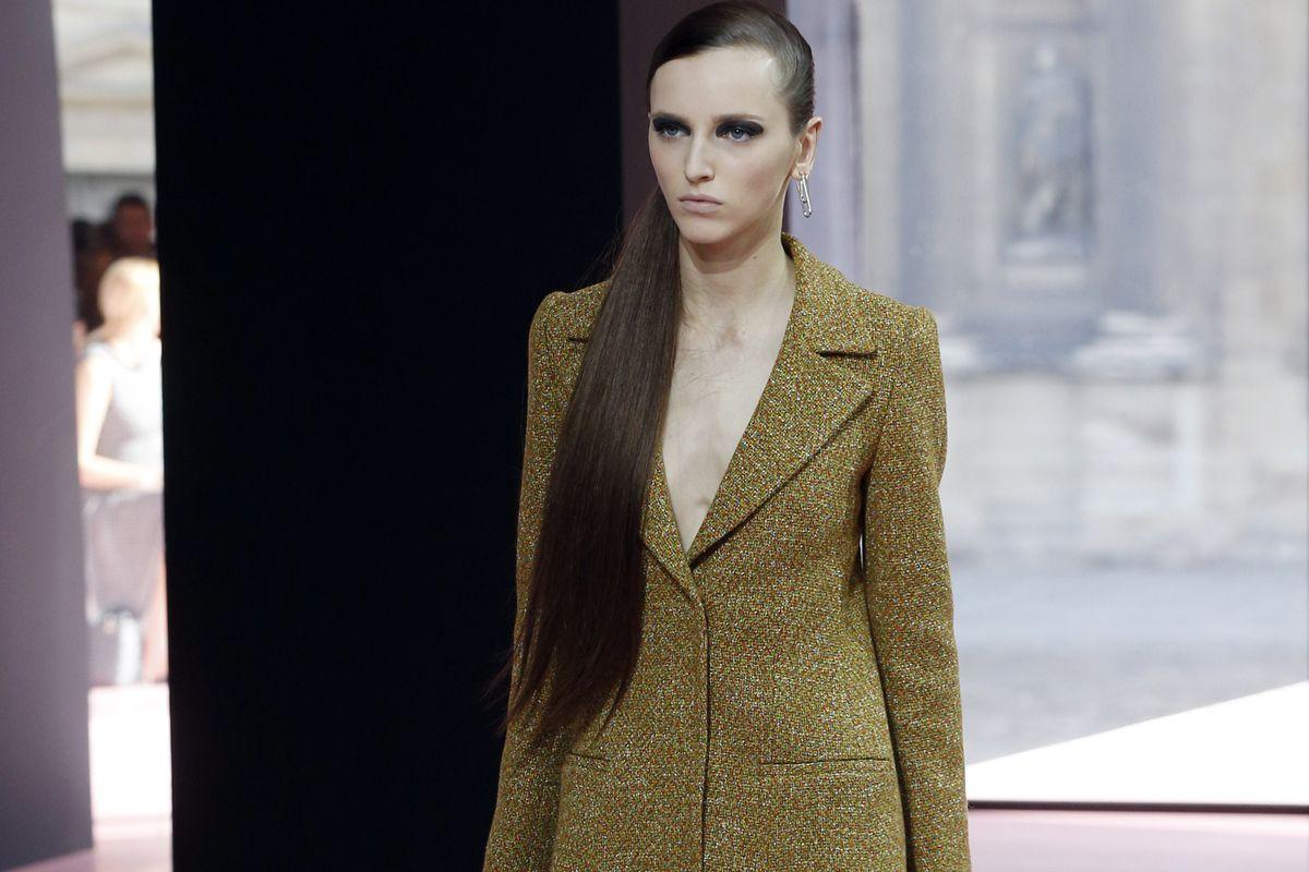 Model Sasha Antonowskaia in Christian Dior.