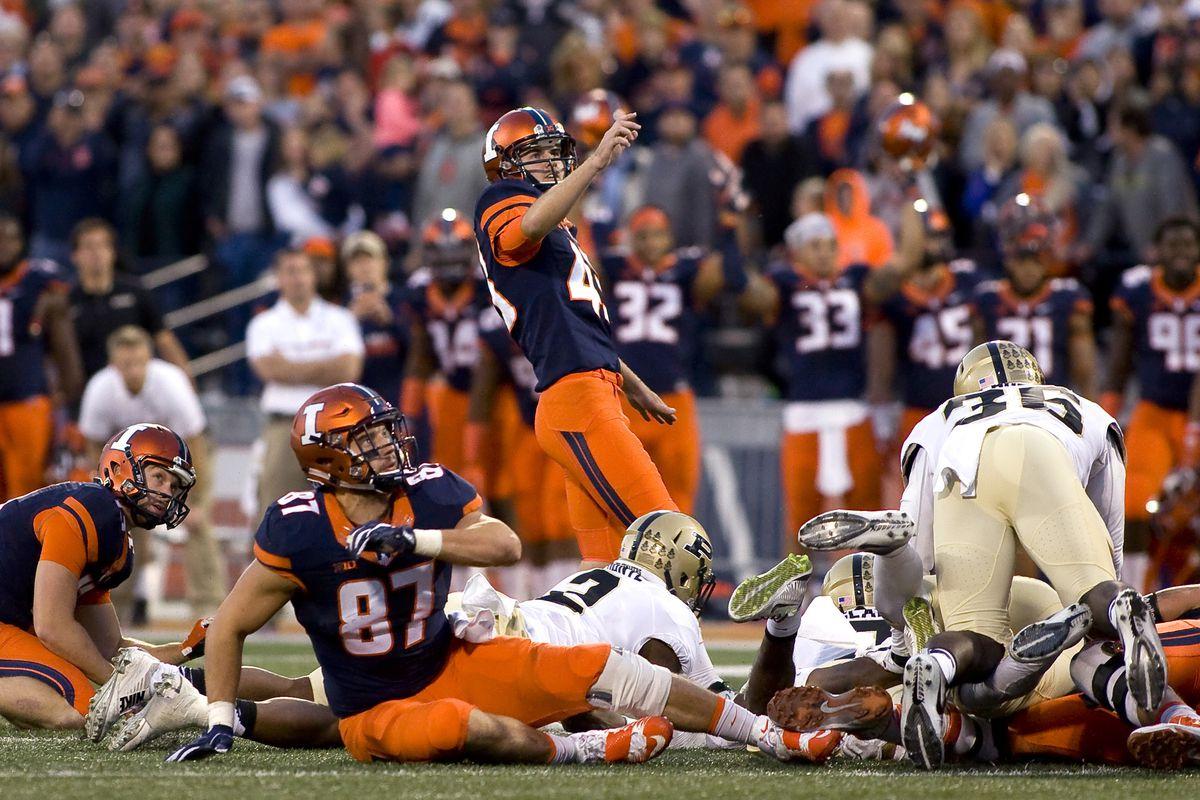 NCAA Football: Purdue at Illinois