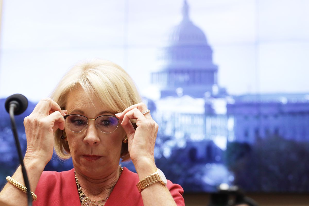 Education Secretary Betsy Devos Testifies Before The House Education And Labor Committee