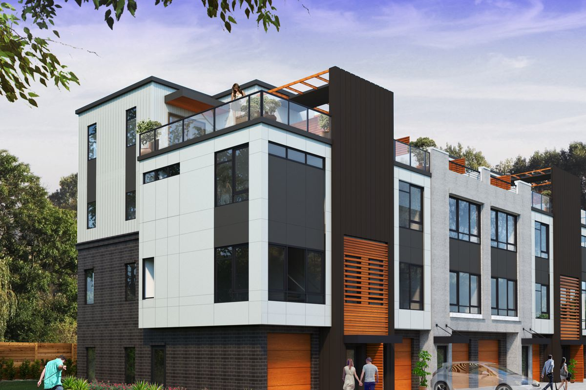 A new townhouse development pitched in the Old Fourth Ward near Boulevard.