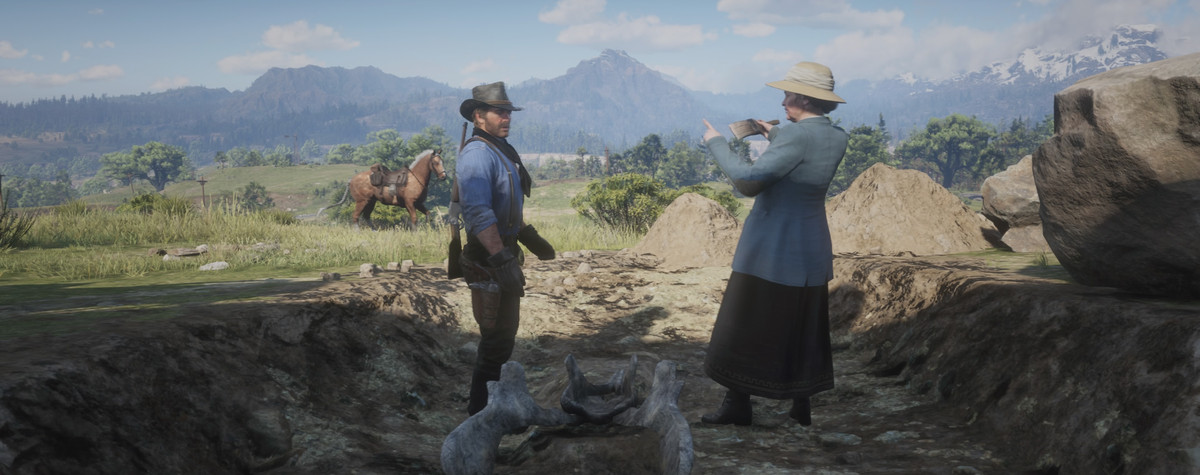Red Dead Redemption 2 - Arthur and archaeologist