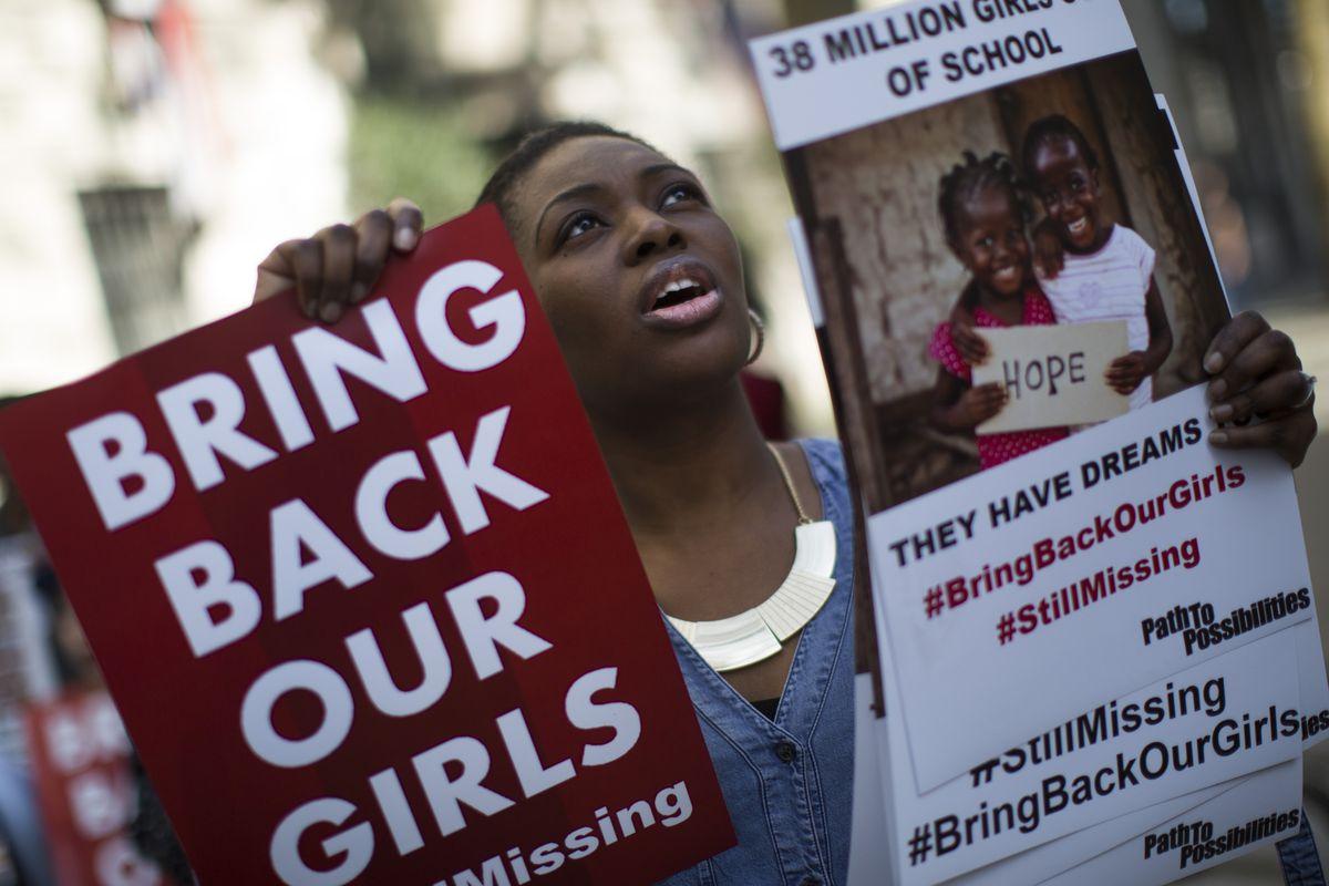 First Anniversary Of Terrorist Group Boko Haram Abducting 200 Nigerian Girls