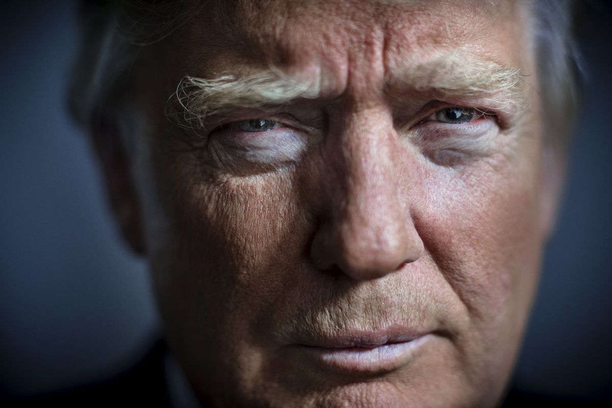 Businessman Donald Trump is photographed for the New York Times on March 18, 2016 in New York City.