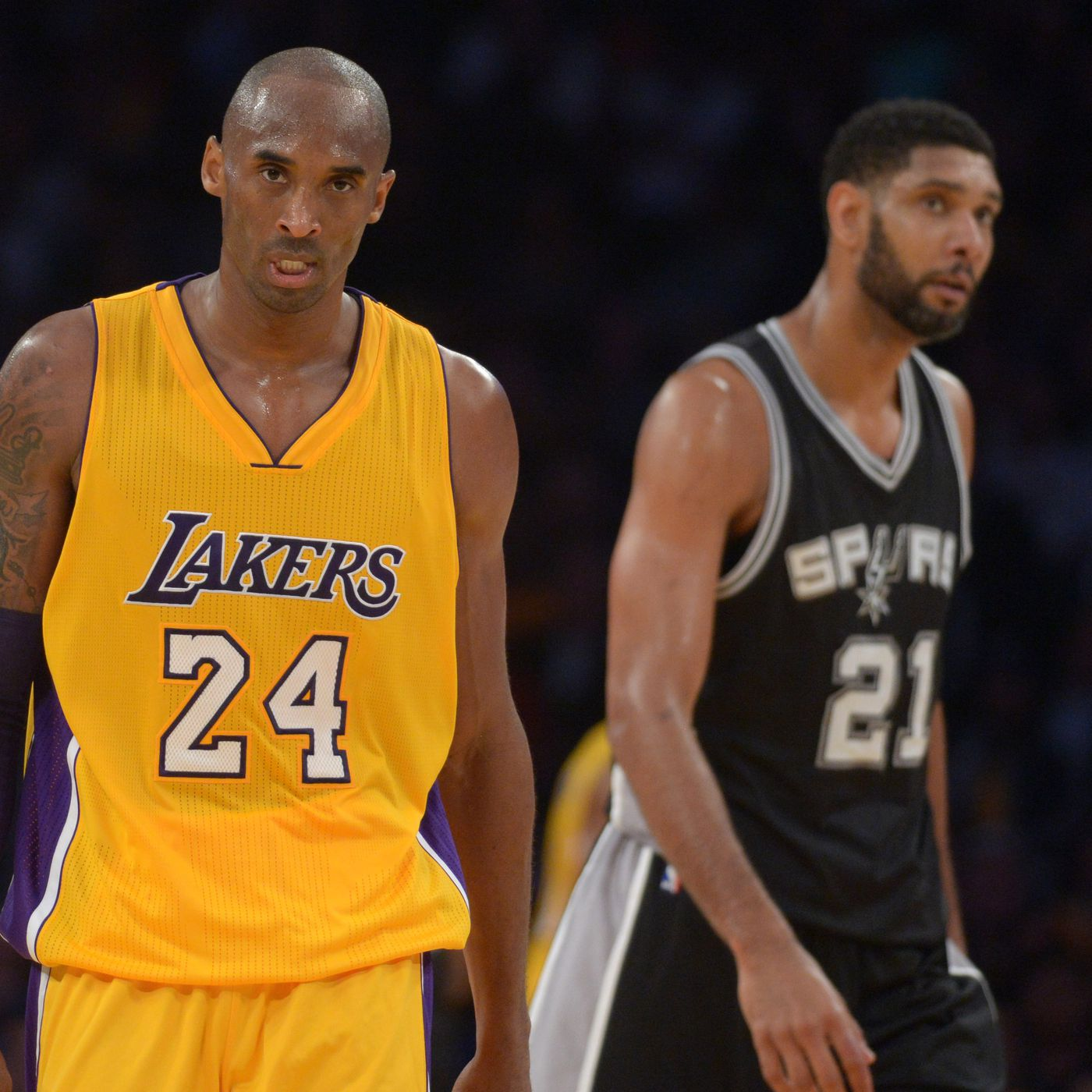 ca3213bef4d Contrasting the difference in the end of the careers of Tim Duncan and Kobe  Bryant