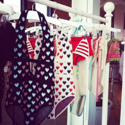 We love this floating heart jacquard one-piece.